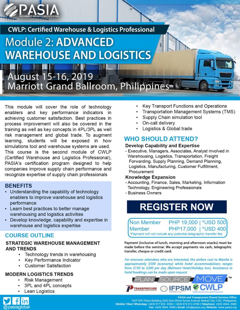 Advanced Warehouse and Logistics | Procurement and Supply