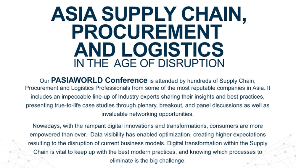 PASIAWORLD 2018 Annual Conference | Procurement and Supply Institute