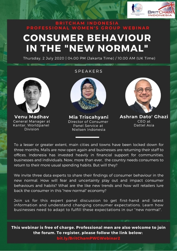 """BritCham Professional Women's Group Webinar: Consumer Behavior in the """"New Normal"""""""