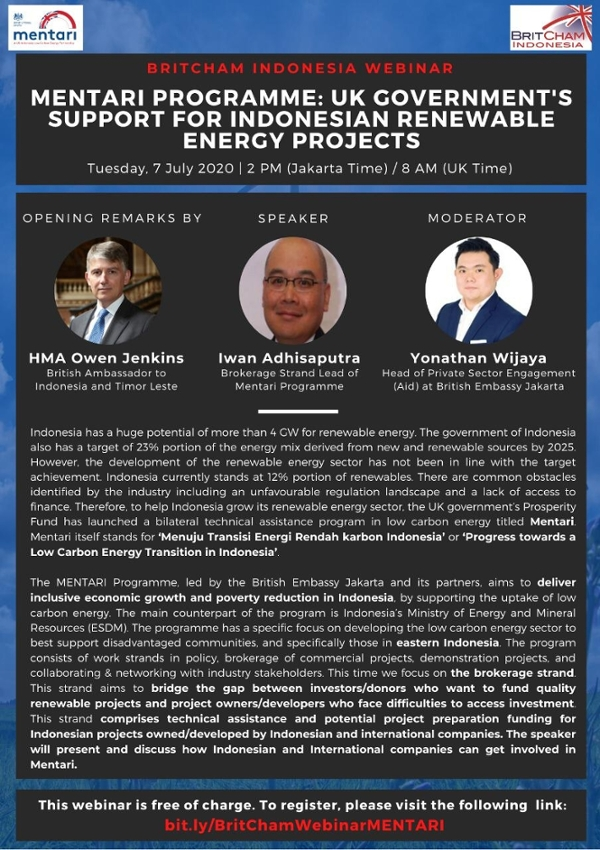 Mentari Program: UK Government's Support for Indonesian Renewable Energy Projects