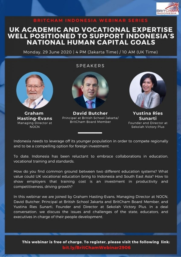 UK Academic and Vocational Expertise Well Positioned to Support Indonesia's National Human Capital Goals