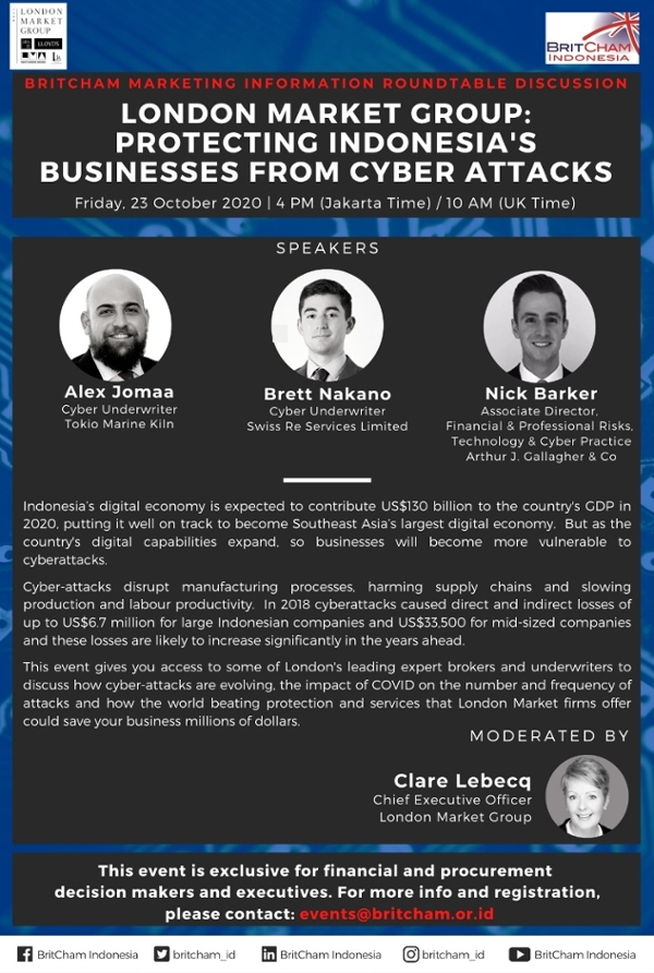 BritCham Marketing Information Roundtable Discussion: London Market Group: Protecting Indonesia's Businesses from Cyber Attacks