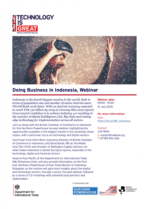 Opportunities in Technology and Digital Sectors in Indonesia for Northern Powerhouse