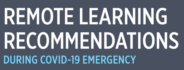 Remote Learning Recommendations by ISBOE