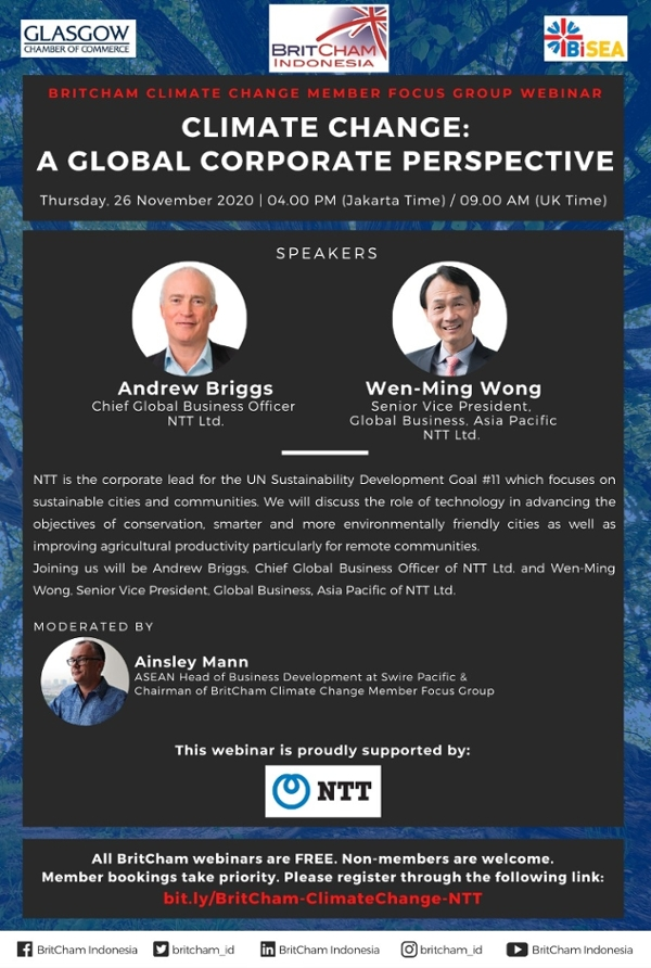 BritCham Climate Change Member Focus Group Webinar: Climate Change - A Global Corporate Perspective
