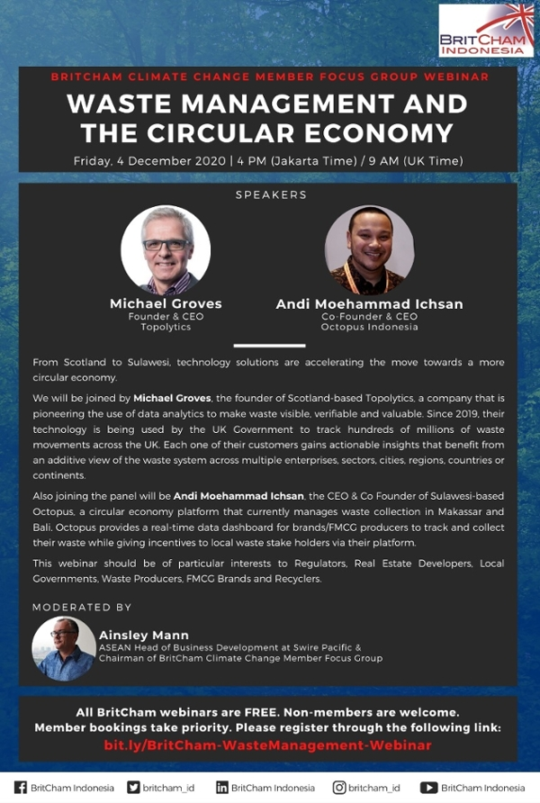 BritCham Climate Change Member Focus Group Webinar: Waste Management and the Circular Economy