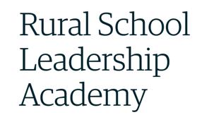 Join the 2021-2022 Rural School Leadership Academy (RSLA)