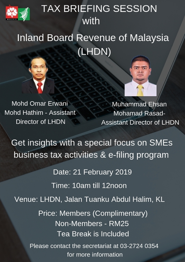 Tax Briefing Session With Inland Board Revenue Of Malaysia